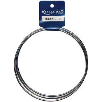 """Silver Creek Zinc Metal Rings 5"""""""