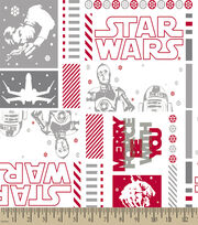 Star Wars™ Print Fabric-Merry Force Be With You, , hi-res