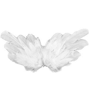 "Feather Angel Wings 15"" Span-White"