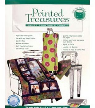 Printer Fabric Sew-In Sheets 50/Pkg
