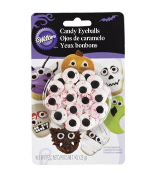 Candy Decorations 24/Pkg-Red Vein Eyeballs