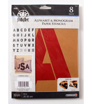 FolkArt® Alphabet & Monogram Paper Stencils - Bold Font, 8 inch