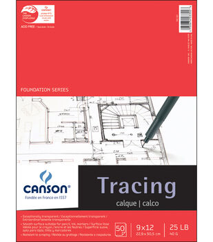 "Canson Tracing Paper Pad 9""X12"""