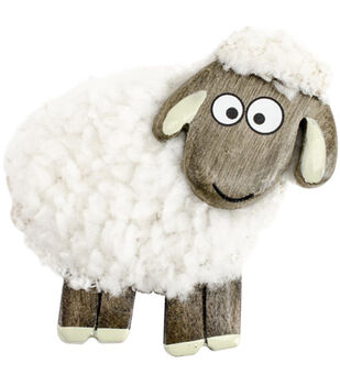 Vanessa Bee Designs Standing Fluffy Sheep Magnet