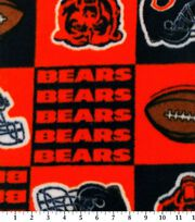 Chicago Bears NFL Block Fleece Fabric by Fabric Traditions, , hi-res