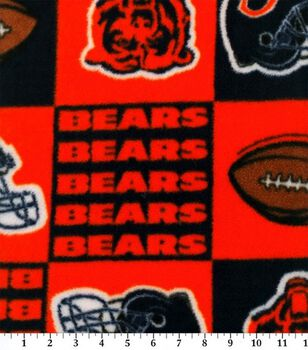 Chicago Bears NFL Block Fleece Fabric by Fabric Traditions