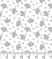 Nursery Fabric - Elephant Confetti Gray Flannel, , hi-res