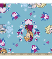Disney® Frozen Princess Hearts and Flowers Fleece Fabric, , hi-res