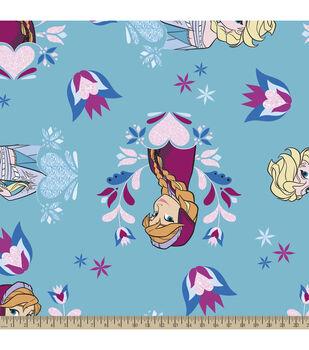 Disney® Frozen Princess Hearts and Flowers Fleece Fabric
