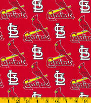 St. Louis Cardinals MLB Red Tossed Cotton Fabric, , hi-res