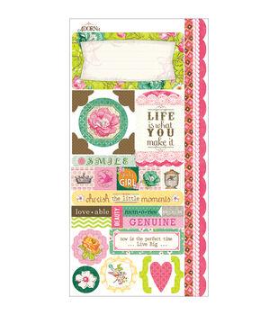 Adorn-It Viva La Glam Cardstock Stickers Little Moments