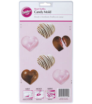 Wilton® Candy Mold-Heart Truffles 6 Cavity