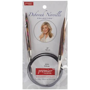 "Deborah Norville Fixed Circular Needles 40"" Size 15/10.0mm"