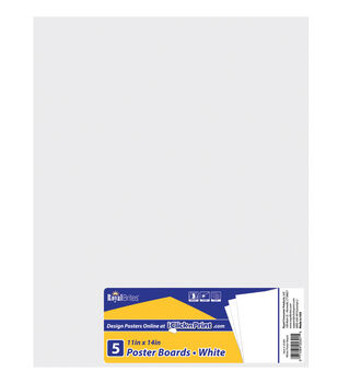 "Royal Lace-Posterboard 11""X14"" 5/Pkg-White-Gridded"