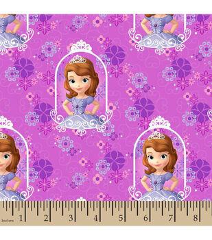 Disney® Junior Framed Sofia With Flowers Cotton Fabric