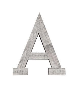 Hudson 43™ Naturalist 20'' Whitewash Wood Letter H