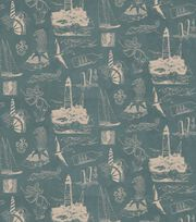 Nautical Fabric Living Seas Toile Cotton, , hi-res