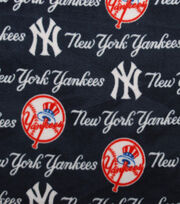 New York Yankees MLB Tossed Print Fleece Fabric, , hi-res