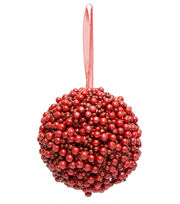 Blooming Holiday 4.5'' Berry Kissing Ball, , hi-res