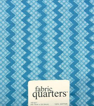 Fabric-Quarters Cotton Fabric-Assorted Blue