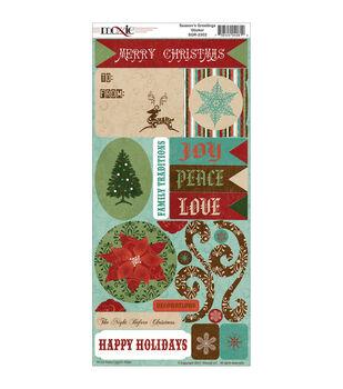 Moxxie Season's Greetings Cardstock Stickers