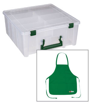 Buy a Double Deep Super Satchel and get an ArtBin Craft Apron