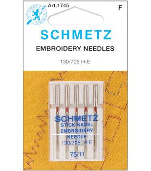 Schmetz Embroidery Machine Needles 5pcs Size 75/11