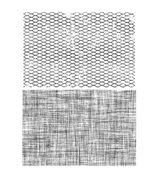 Stampers Anonymous Mesh & Linen Cling Rubber Stamp Set