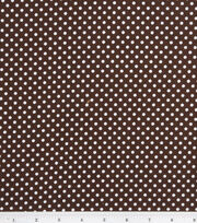 Nursery Baby Basic-Dots White on Brown, , hi-res