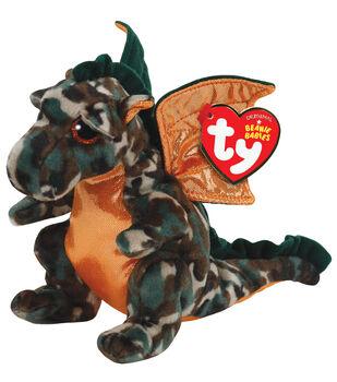 Ty Beanie Babies Razor The Camo Dragon Plush
