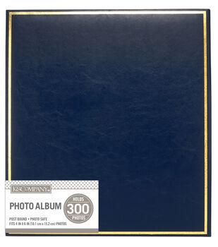 K&Company Navy Library 5 Up Post Bound Photo Album