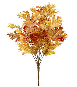 Blooming Autumn 19'' Oak Leaves Bush-Yellow & Gold