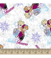 Disney® Frozen Sisters Snowflakes Metallic Cotton Fabric, , hi-res