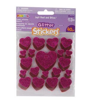 Darice Foamies Glitter Stickers-40PK/Hearts