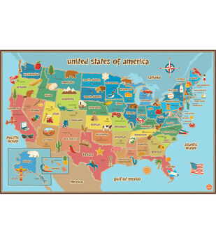 WallPops Kids USA Map
