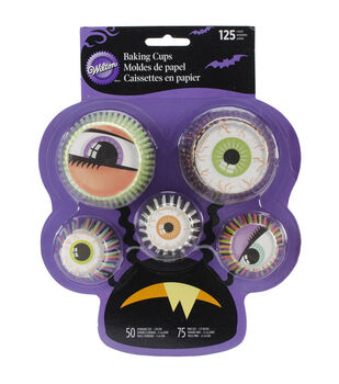 Wilton® Standard And Mini Baking Cups-Halloween Eye 125/Pkg