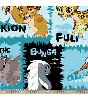 Disney® Lion Guard Friends Fleece Fabric