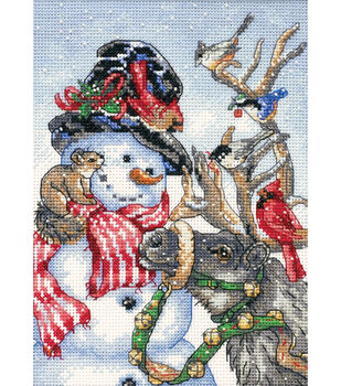 Dimensions Gold Petite Counted Cross Stitch Snowman & Reindeer