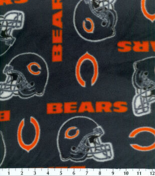 Chicago Bears NFL Fleece Fabric by Fabric Traditions
