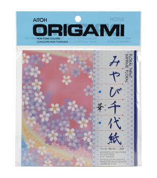 Aitoh Floral Print Origami Paper 48/Pkg