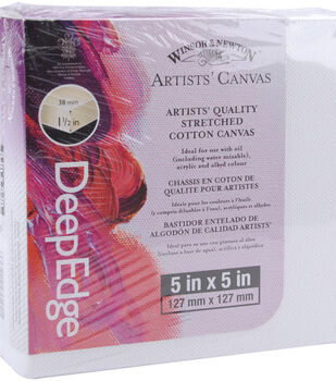 "Winsor & Newton Deep Edge Stretched Canvas 5""x5""-5""x5"""
