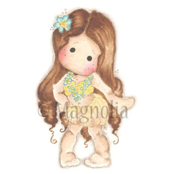 Magnolia Sea Breeze Cling Stamp Hula Hula Tilda