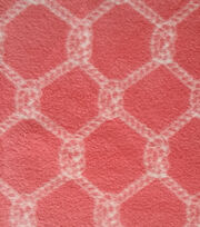Nautical Fabric Rope Knot On Coral Fleece, , hi-res