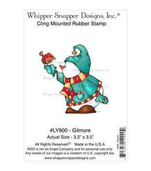 Whipper Snapper Designs Cling Stamp-Gilmore