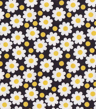 Snuggle Flannel Fabric-Daisies