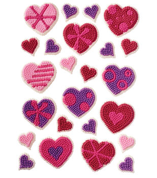 Wilton® Icing Decs 24/Pkg-Patterned Hearts