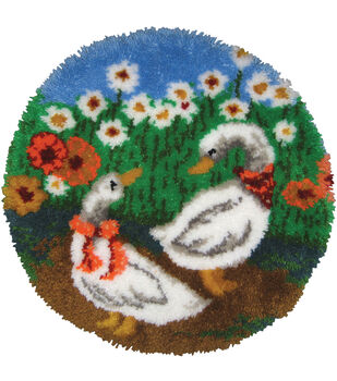 M C G Textiles Latch Hook Kit Geese Rug