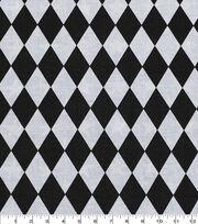 Keepsake Calico™ Cotton Fabric-Black & White Diamond, , hi-res