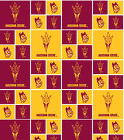 Arizona State University NCAA  Cotton Fabric, , hi-res