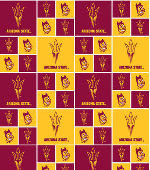 Arizona State University NCAA  Cotton Fabric